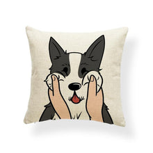 Load image into Gallery viewer, Pull My Cheeks Shiba Inu Cushion CoverCushion CoverOne SizeHusky