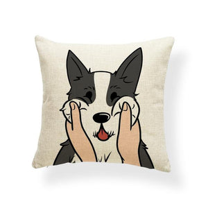 Pull My Cheeks Shiba Inu Cushion CoverCushion CoverOne SizeHusky
