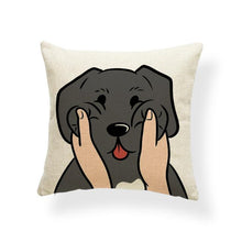Load image into Gallery viewer, Pull My Cheeks Shiba Inu Cushion CoverCushion CoverOne SizeLabrador - Black