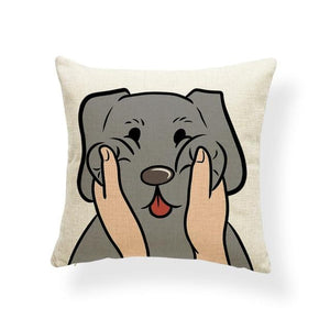 Pull My Cheeks Shiba Inu Cushion CoverCushion CoverOne SizeLabrador - Silver