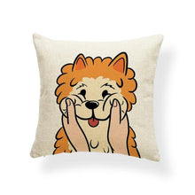 Load image into Gallery viewer, Pull My Cheeks Shiba Inu Cushion CoverCushion CoverOne SizeShiba Inu