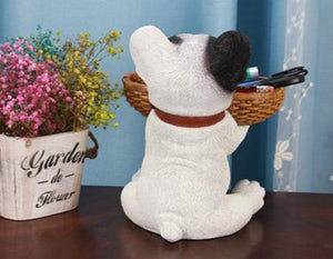 Puppy Love Tabletop Organiser & Piggy Bank StatuesHome Decor