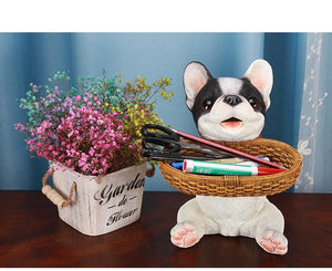 Puppy Love Tabletop Organiser & Piggy Bank StatuesHome DecorBoston Terrier