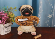Load image into Gallery viewer, Puppy Love Tabletop Organiser & Piggy Bank StatuesHome DecorPug