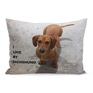Queen Size Rectangular Large Cushion Covers for Dog Lovers - Series 1Cushion CoverDachshundOne Size