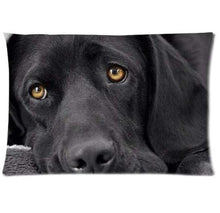 Load image into Gallery viewer, Queen Size Rectangular Large Cushion Covers for Dog Lovers - Series 1Cushion CoverLabrador - BlackOne Size