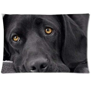Queen Size Rectangular Large Cushion Covers for Dog Lovers - Series 1Cushion CoverLabrador - BlackOne Size