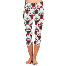 Load image into Gallery viewer, Red Bowtie and Glasses Pug Love LeggingsApparel