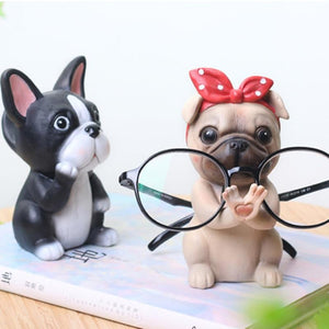 Boston Terrier Love Resin Glasses HolderHome Decor