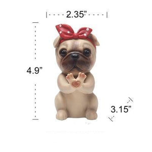 Boston Terrier Love Resin Glasses HolderHome DecorPug