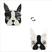 Load image into Gallery viewer, Reversible Boston Terrier / French Bulldog Sequinned PatchPatch