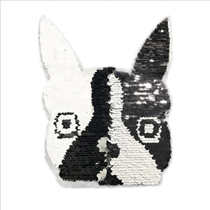 Reversible Boston Terrier / French Bulldog Sequinned PatchPatch