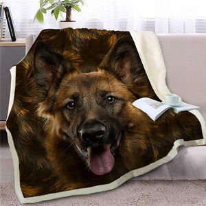 Rough Collie Love Soft Warm Fleece BlanketBlanketGerman ShepherdSmall