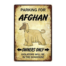 Load image into Gallery viewer, Saint Bernard Love Reserved Parking Sign BoardCar Accessories