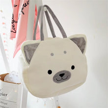 Load image into Gallery viewer, Samoyed Love White Plush HandbagBag