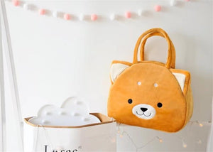 Samoyed Love White Plush HandbagBag