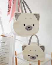 Load image into Gallery viewer, Samoyed Love White Plush HandbagBagSamoyedS
