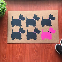 Load image into Gallery viewer, Scotties / Scottish Terrier Love Door MatMatSmall