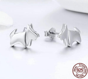 Scotties / Scottish Terrier Love Silver EarringsEarring