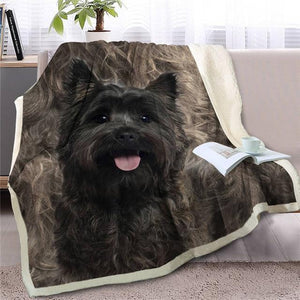 Scotties / Scottish Terrier Love Soft Warm Fleece BlanketBlanketScottish TerrierSmall