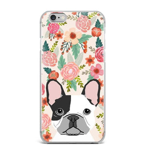 Shiba Inu in Bloom iPhone CaseCell Phone AccessoriesFrench Bulldog - Pied Black and WhiteFor 5 5S SE