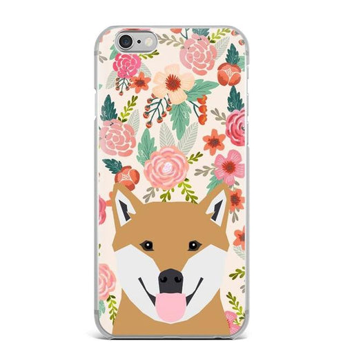 Shiba Inu in Bloom iPhone CaseCell Phone AccessoriesShiba InuFor 5 5S SE