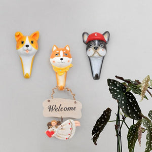 Shiba Inu Love Multipurpose Wall HookHome Decor