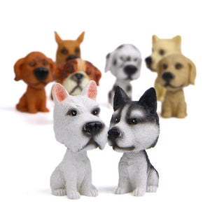 Siberian Husky Miniature Car BobbleheadCar Accessories