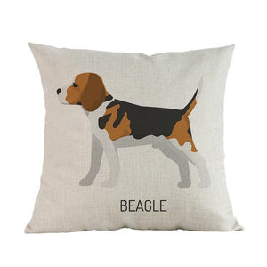 Side Profile Boxer Cushion CoverCushion CoverOne SizeBeagle