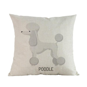 Side Profile Boxer Cushion CoverCushion CoverOne SizePoodle