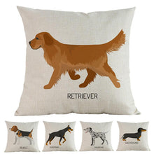 Load image into Gallery viewer, Side Profile Golden Retriever Cushion CoverCushion Cover