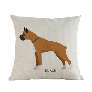 Side Profile Great Dane Cushion CoverCushion CoverOne SizeBoxer