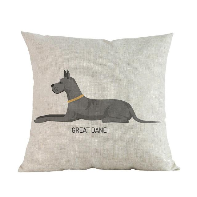 Side Profile Great Dane Cushion CoverCushion CoverOne SizeGreat Dane