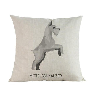 Side Profile Great Dane Cushion CoverCushion CoverOne SizeSchnauzer - Mini