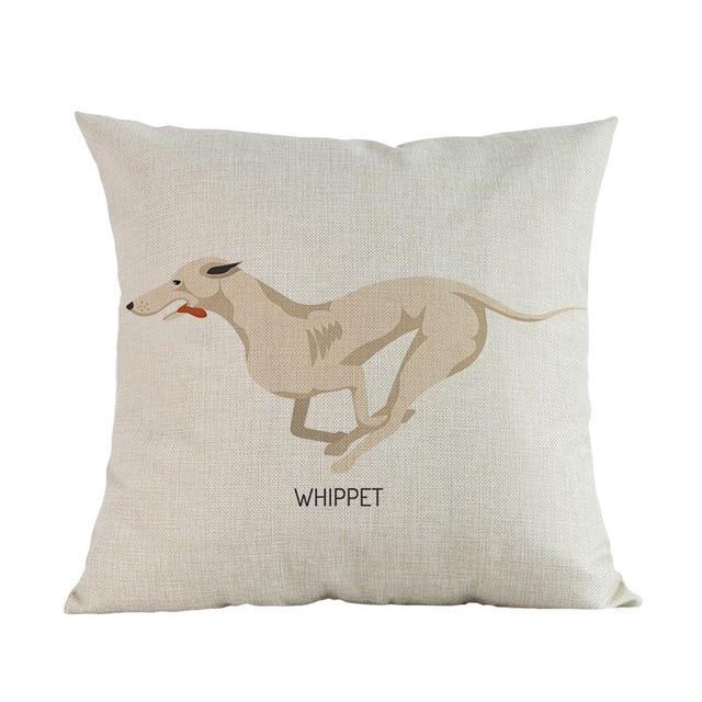 Side Profile Whippet Cushion CoverCushion CoverOne SizeWhippet