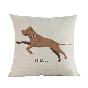 Side Profile White Poodle Cushion CoverCushion CoverOne SizeAmerican Pit bull Terrier