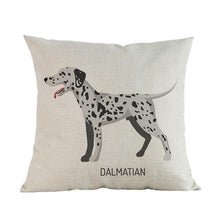 Load image into Gallery viewer, Side Profile White Poodle Cushion CoverCushion CoverOne SizeDalmatian