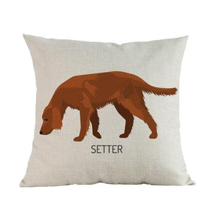 Side Profile White Poodle Cushion CoverCushion CoverOne SizeIrish Setter