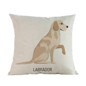 Side Profile White Poodle Cushion CoverCushion CoverOne SizeLabrador