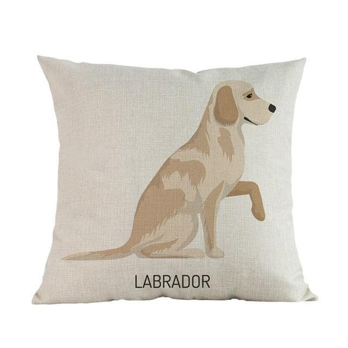 Side Profile Yellow Labrador Cushion CoverCushion CoverOne SizeLabrador