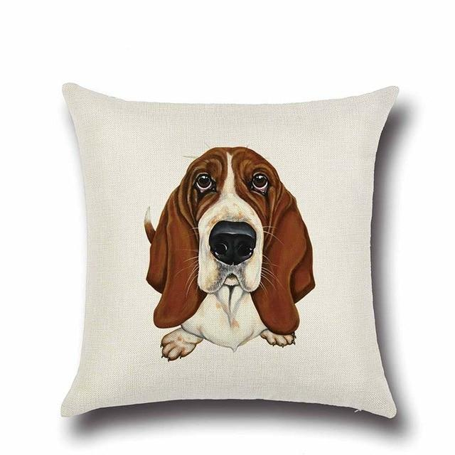 Simple Basset Hound Cushion CoverHome DecorBasset Hound