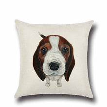 Load image into Gallery viewer, Simple Basset Hound Cushion CoverHome DecorBeagle