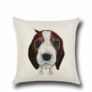 Simple Basset Hound Cushion CoverHome DecorBeagle