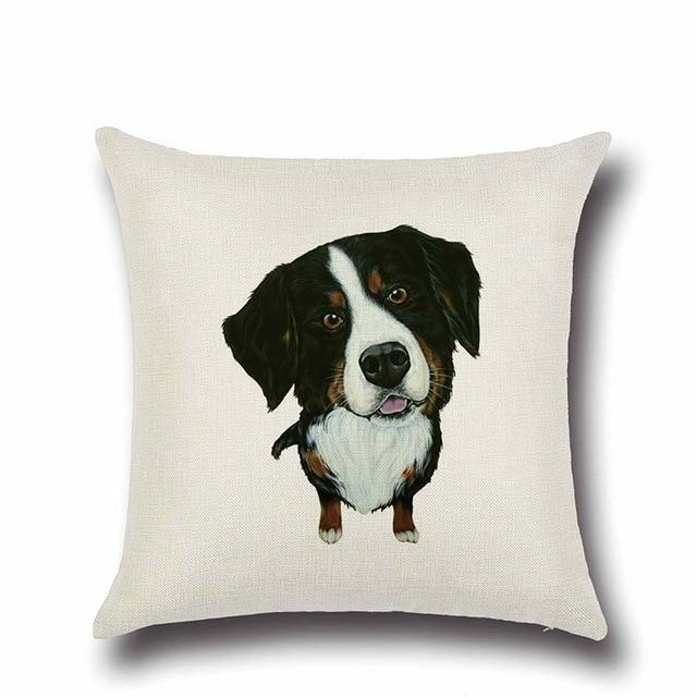 Simple Bernese Mountain Dog Love Cushion CoverHome DecorBernese Mountain Dog