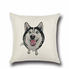 Load image into Gallery viewer, Simple Black Labrador Love Cushion CoverHome DecorHusky