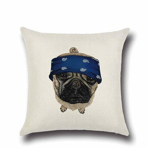 Simple Black Labrador Love Cushion CoverHome DecorPug