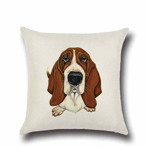 Simple Chocolate Brown Labrador Love Cushion CoverHome DecorBasset Hound
