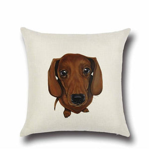 Simple Chocolate Brown Labrador Love Cushion CoverHome DecorDachshund