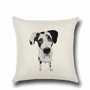 Simple Chocolate Brown Labrador Love Cushion CoverHome DecorDalmatian - Option 2