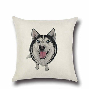 Simple Chocolate Brown Labrador Love Cushion CoverHome DecorHusky